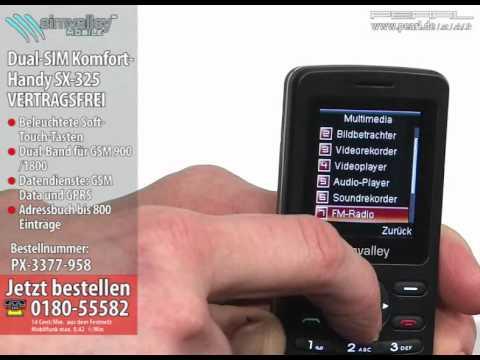 simvalley MOBILE Dual-SIM-Handy SX-325 VERTRAGSFREI