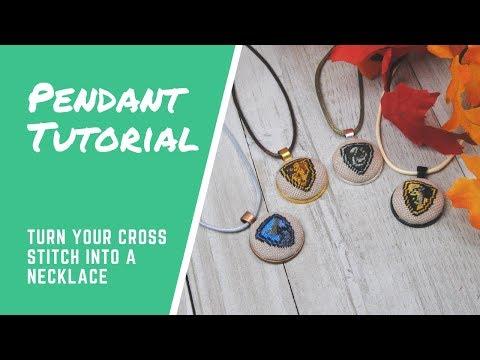Pendant Necklace - Cross Stitch Tutorial