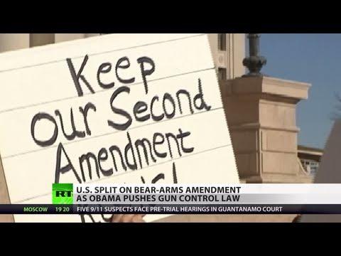 US Split: Debate rages as Obama pushes gun control law