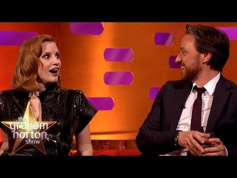 James McAvoy Tests Jessica Chastain On Understanding A Scottish Phrase | The Graham Norton Show
