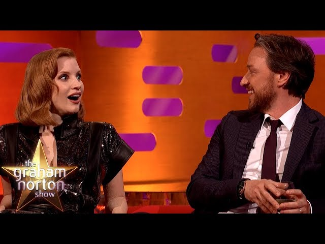 James McAvoy Tests Jessica Chastain On Understanding A Scottish Phrase | The Graham Norton Show