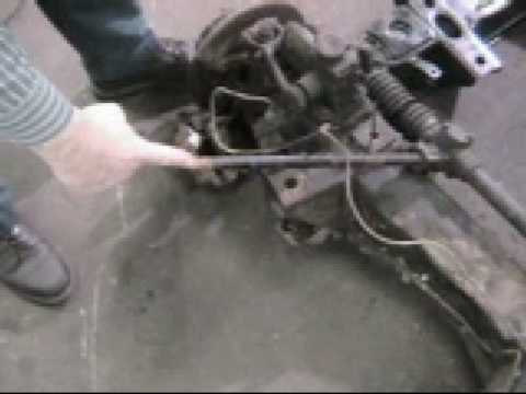 Rack And Pinion >> 84 Fitting The MGB Rack and Pinion - YouTube