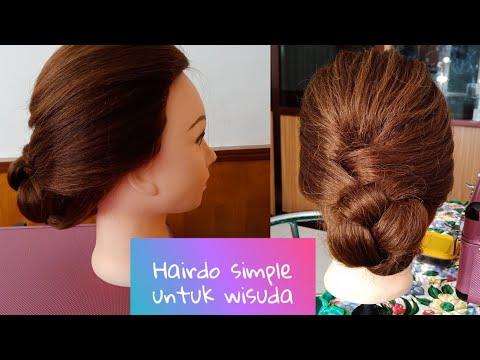 Hairdo Simple Untuk Wisuda (super Gampang)    Meggie ApriLya