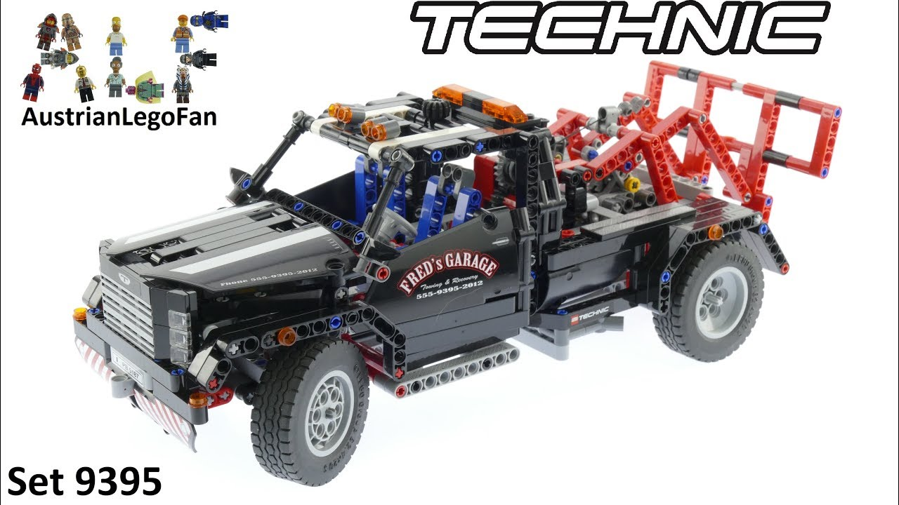 lego technic 9395 pick up tow truck lego speed build. Black Bedroom Furniture Sets. Home Design Ideas