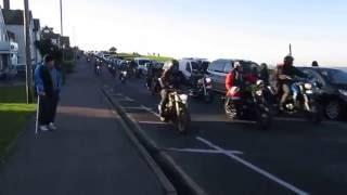 Whitstable Toy Run 2016. Tankerton Drive past, 360 bikes.