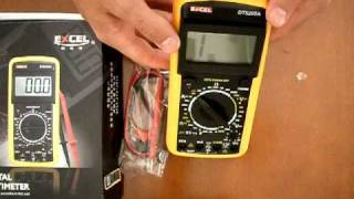 unboxing review dt9205a lcd screen digital multimeter volt ohm silicone case