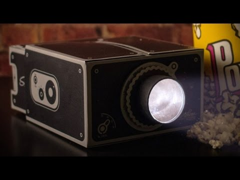 Cardboard smartphone projector 2 0 review youtube for T mobile mini projector