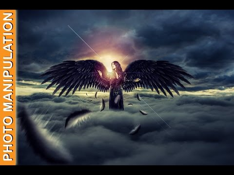 Photoshop CC Tutorial - Photo Manipulation : Flying Angel + PSD File
