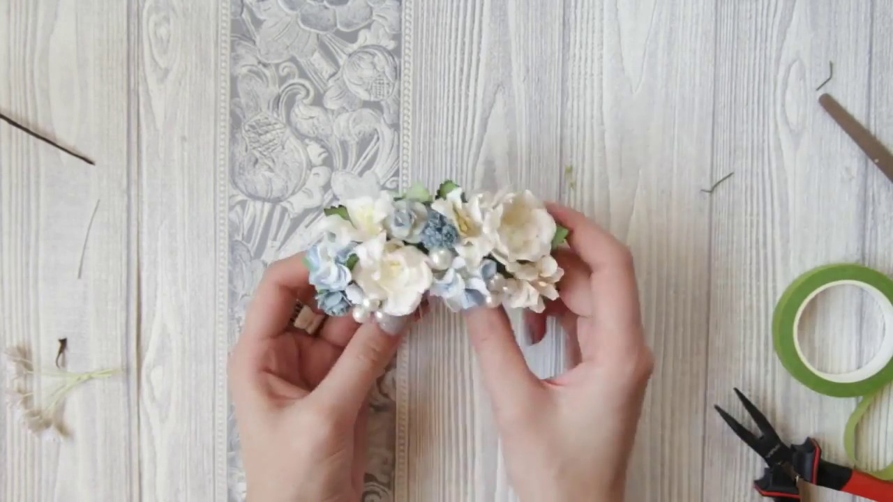 How To Make Bridal Hair Accessories Easy Diy Hair Comb Flowers