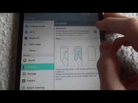 How to disable the Knock On feature on LG devices (Secret Setting)
