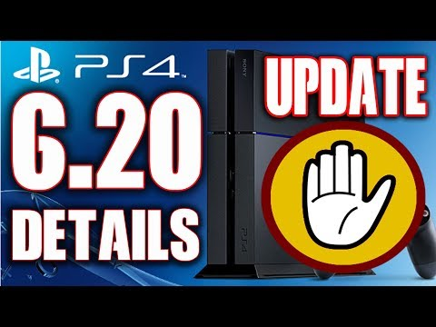 PS4 6.20 UPDATE System Software Update Details Because Hackers