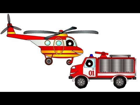 Рисунок для детей вертолет