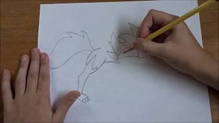 How to draw Lycanroc Dusk