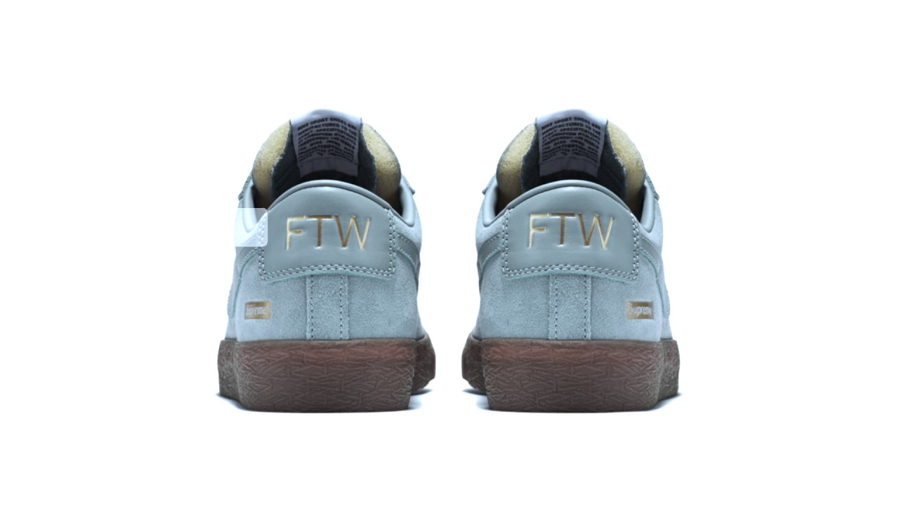 1e7d915042e Nike SB Blazer Low GT x Supreme