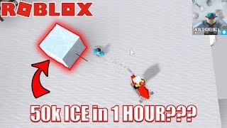FASTEST WAY TO GET ICE | Roblox Snow Shoveling Simulator