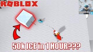 LA MANERA MUCHO DE OBTENER ICE Roblox Snow Shoveling Simulator