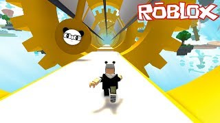 WE RAN ON THE ADVENTUROUS ROAD! Roblox MEGA Challenge with Panda!
