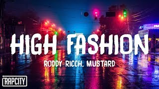 Roddy Ricch - High Fashion ft. Mustard (Lyrics)