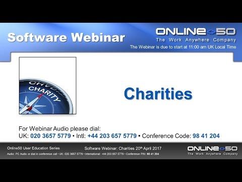 Charities Webinar 20th April 2017