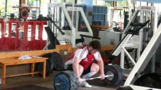 German National Olympic Weightlifting team training in Tenerife December 2009