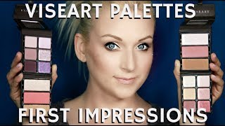 Simple & Easy Eyeshadow & Blush Highlighter Viseart Palettes First Impressions | mathias4makeup
