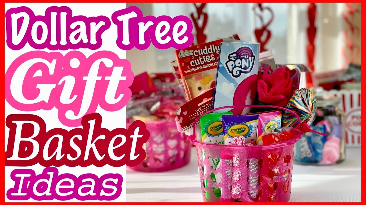 Dollar Tree GIFT BASKET IDEAS For Kids Adults