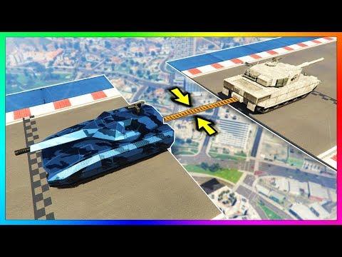 ПЕРЕТЯГИВАНИЕ КАНАТА ТАНК TM 02 KHANJALI VS ТАНК RHINO КТО СИЛЬНЕЕ В GTA 5?