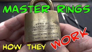 (1473) Corbin Master Ring Padlock And How They Work
