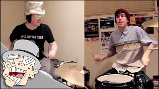 Repeat youtube video asdfmovie7 song: DRUM DUEL (feat. Chris Dimas) | LilDeuceDeuce