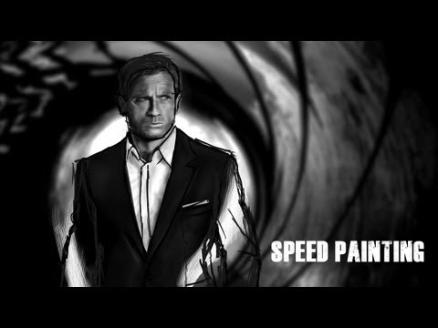James Bond 007 Daniel Craig - Digital Speed Painting [1080p]