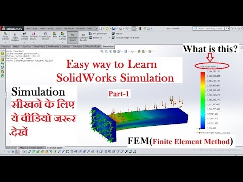 solidworks-simulation-for-beginners-part-1-||-static-beam-analysis-||-fea-finite-element-analysis