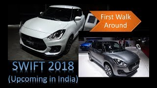Maruti Suzuki Swift 2018   First walk around   White   Mineral Grey   Interior Video