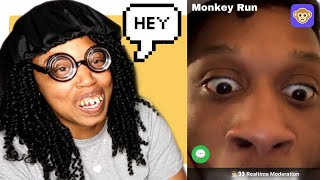 REPEATING AFTER PEOPLE ON MONKEY APP PRANK !!