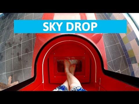 Plopsaqua De Panne - Sky Drop! || Extreme Trapdoor Water Slide [NEW]