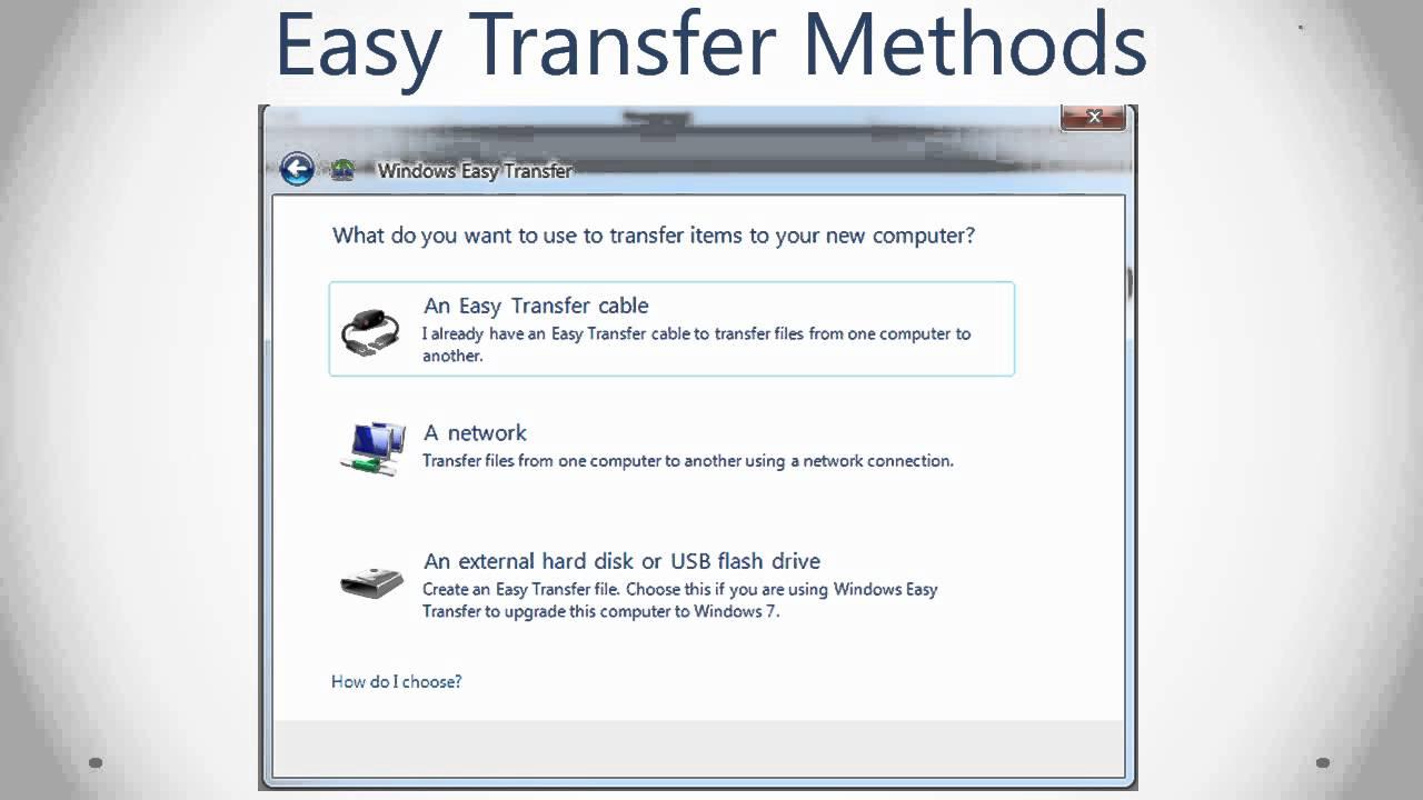 Using windows easy transfer: windows 7 youtube.