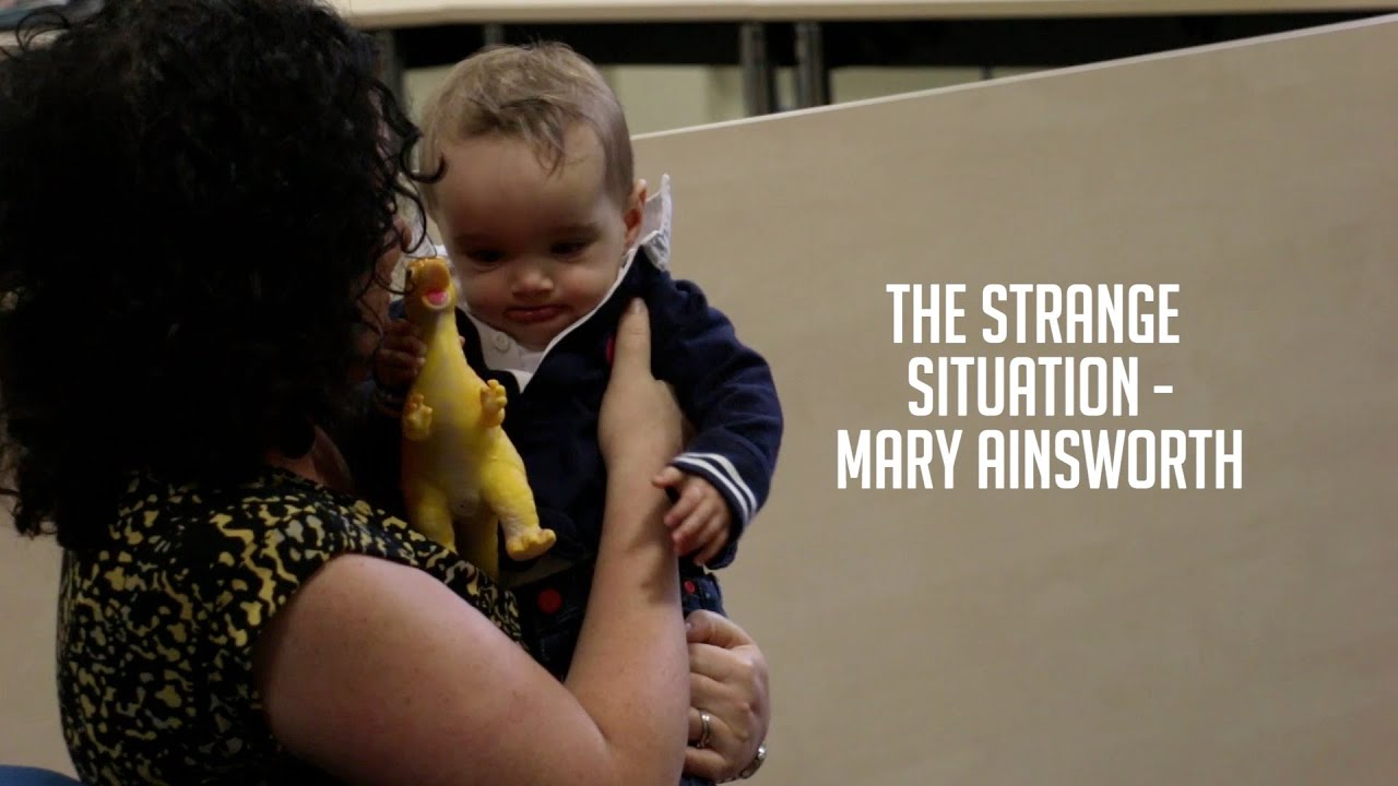 the strange situation The strange situation edit mary ainsworth is a developmental psychologist who devised a procedure called the strange situation, to observe attachment relationships between a human caregiver and child.