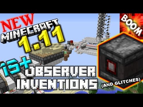 NEW 1.11 Minecraft 15+ Observer Block Inventions