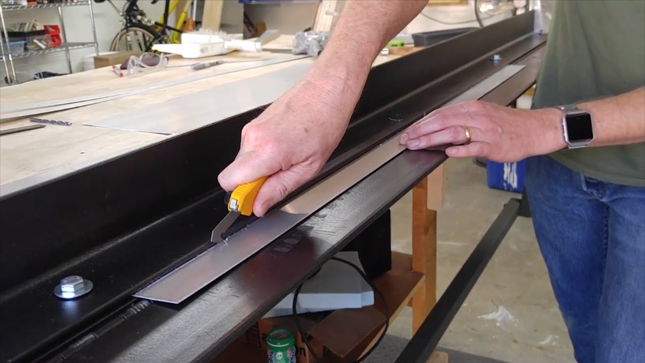 Fast Precision Aluminum Sheet Cuts With A Brake And Olfa