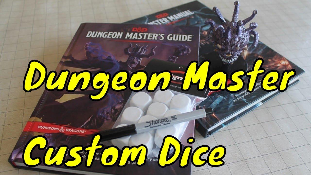 Making Custom Dungeon Master Dice