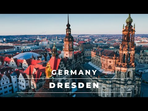 Dresden Germany by drone in 4k – Beautiful historic city center | Germany Travel