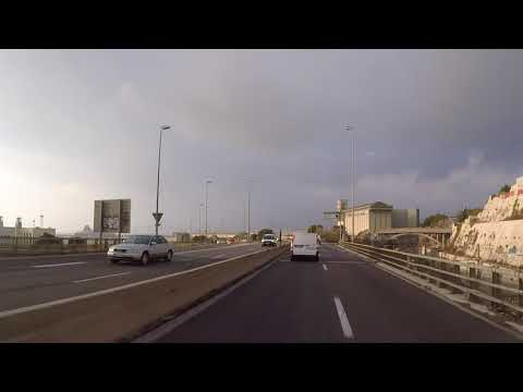 France Marseille, Road to port, Gopro / France Marseille, Route vers port, Gopro