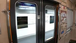 京阪6000系リニューアル編成 快速急行の車内