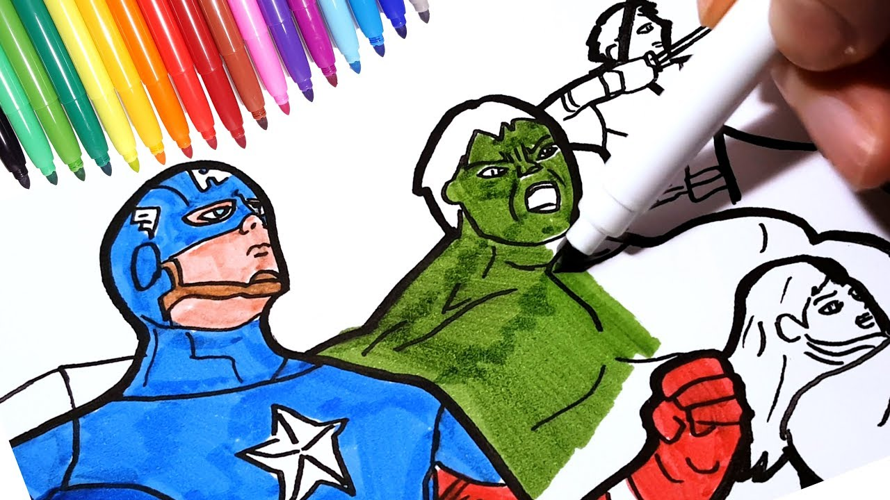 THE AVENGERS Coloring Pages | How to Draw Marvel Superheroes Iron ...
