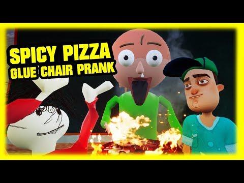 SPICY PIZZA GLUE CHAIR PRANK   Hello Baldi's Basics thumbnail