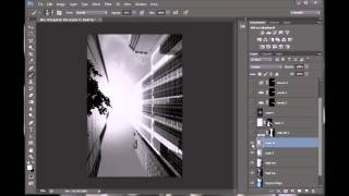 Archirecture التصوير المعالجة في BW