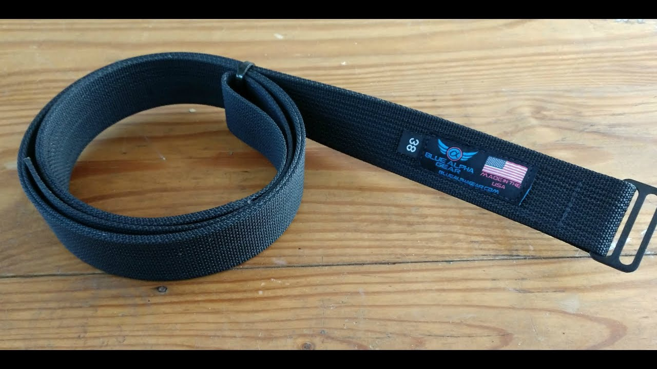 d1d5a02cab684 Blue Alpha Gear Low Profile EDC Belt Review. - YouTube