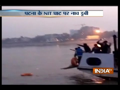 A boat carrying 40 people capsizes in river Ganga in Patna