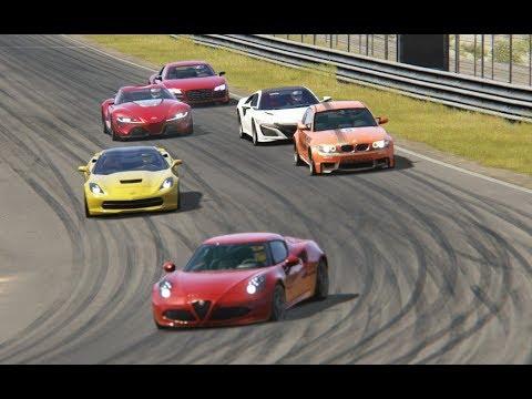 Toyota FT-1 vs Alfa Romeo vs Corvette C7 vs BMW vs Acura NSX at Zandvoort