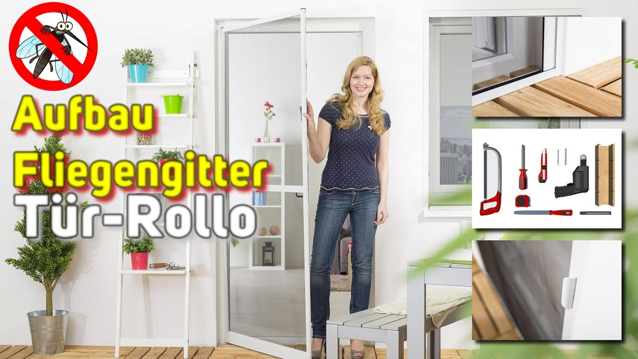 Top Fliegengitter Tür-Rollo [Montage-Video] - YouTube CY39