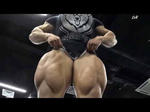 Biggest thighs on a female bodybuilder we have ever seen